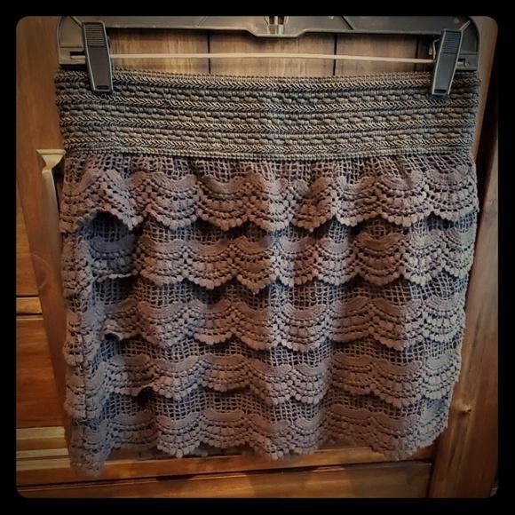 Jolt Dresses & Skirts - Black Crochet Mini Skirt